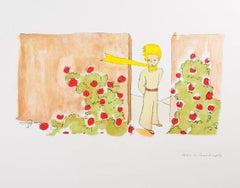 Le Petit Prince dans Le Jardin Des Roses - Antoine De Saint-Exupéry