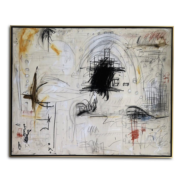 """Karina Gentinetta Abstract Painting - Original Prototype for """"Hidden Figures No. 7"""" Painting, 4 ft. x 5 ft."""