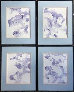Dream evaporation- abstraction art,made in pale violet, blue, lavender color