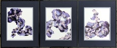 Iris II-abstraction art,made in violet,purple,pink,gold,silver
