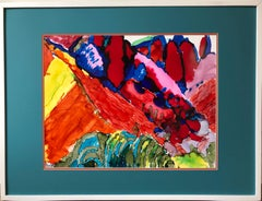 Mountainscape inspired by M.Saryan-made in yellow,orange,red,blue,turquoise
