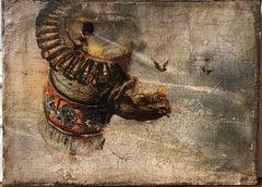 Abstraction (rhinoceros, rhino)-mystical,esoteric,futuristic art