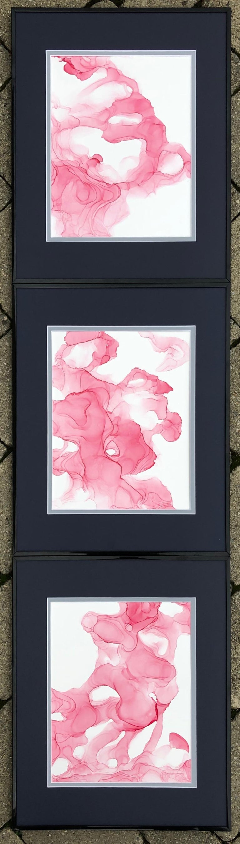 Mila Akopova Abstract Drawing - Wild Orchid-abstraction art,made in pale pink, rose colored