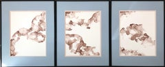 Tree of Life-abstraction art, made in beige, brown, light blue, ash rose color