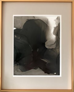 Untitled - abstraction art, made in black, grey, beige color