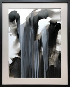 Untitled - abstraction art, made in beige, grey, black and white color