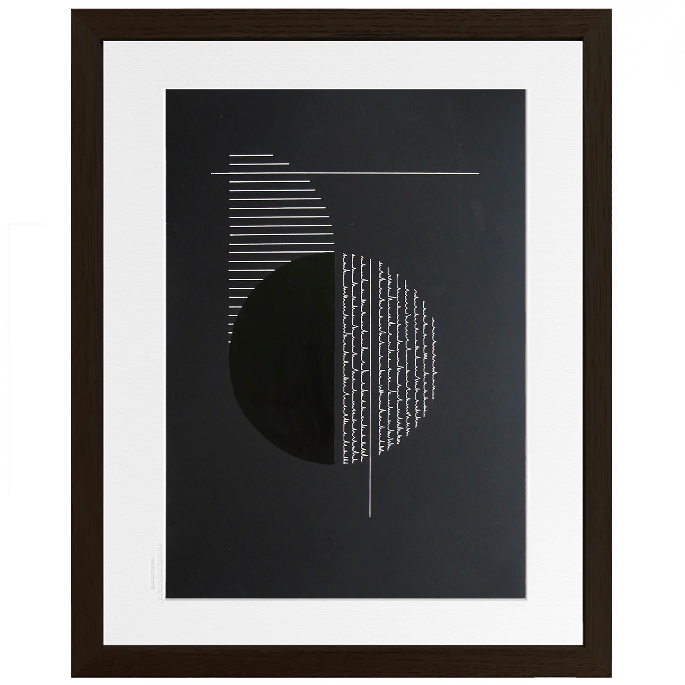 Serie II number 4 - minimalism geometric circle and stripes black and white