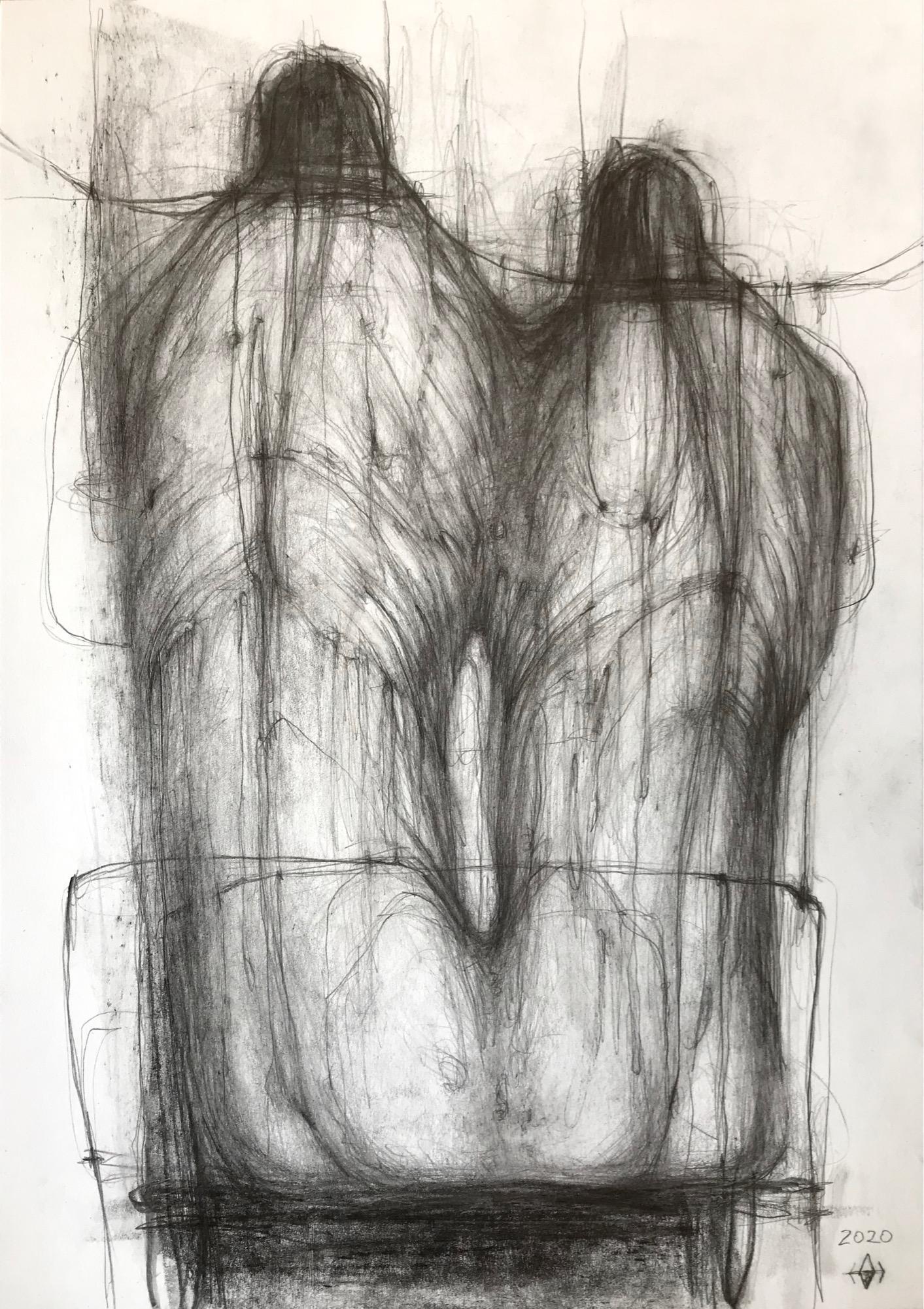 Bond - expressive line drawing