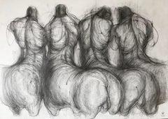 Anxious morning (minotaur, centaur) - expressive line drawing