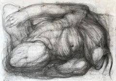 Afternoon nap (minotaur, centaur) - expressive line drawing