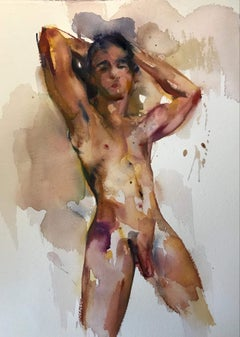 The man - nude male figure made in beige, pink, black color
