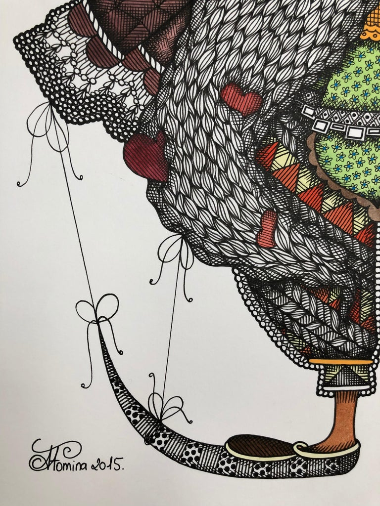 I'm the Love's Indian and I grab the luck's arrow - illustration, ornamental  - Modern Art by Alisa Fomina