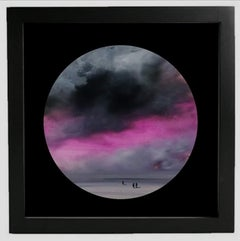 Observer clouds (circular) - landscape with pink, grey color