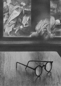 Blind leading a blind - pencil drawing