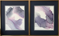 Infinity - abstraction art, made in purple, gray, pink, violet, navy blu colors