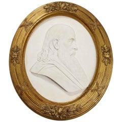 "Margaret Foley (American, 1827-1877) Marble Bust ""Head of Prophet Zephaniah"""