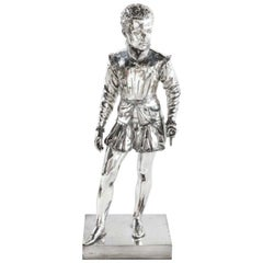 F. Barbedienne, a Life-Size Silvered Bronze of King Henri IV Enfant as a Child