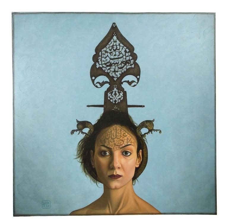 """Morteza Pourhosseini """"The Circus 1"""" Oil and Acrylic on Canvas - Painting by Morteza Pourhosseini"""