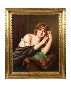 Francois Martin Kavel (French, 1861-1931) Portrait of an Elegant Woman Painting