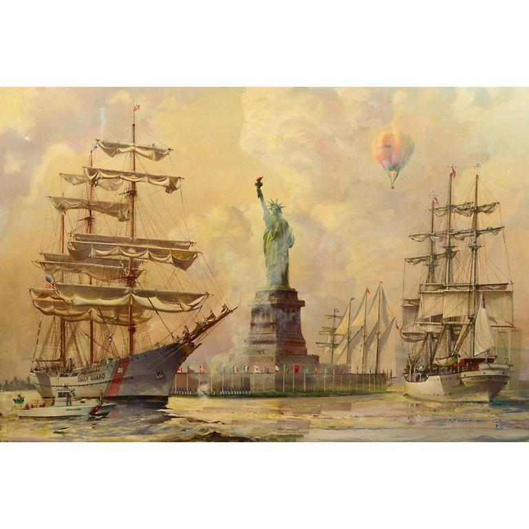 Kipp Soldwedel Operation Statue of Liberty Oil Painting 2
