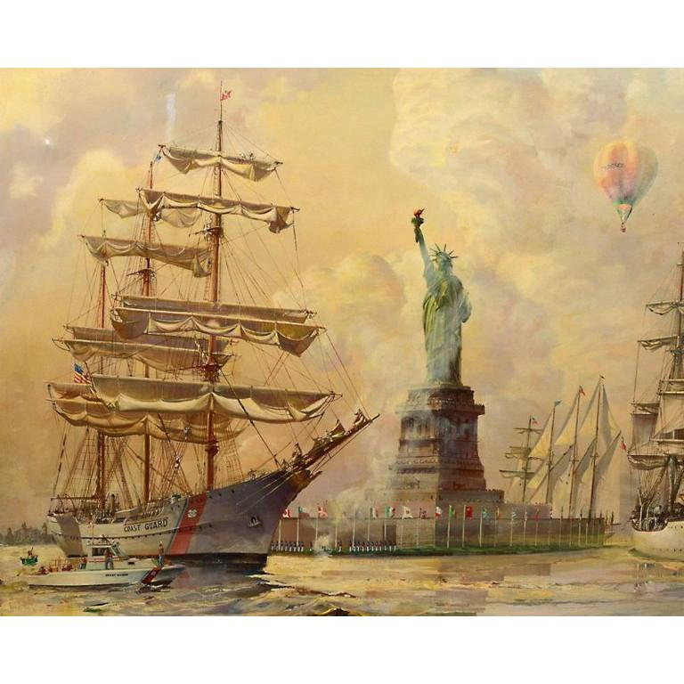 Kipp Soldwedel Operation Statue of Liberty Oil Painting For Sale 1