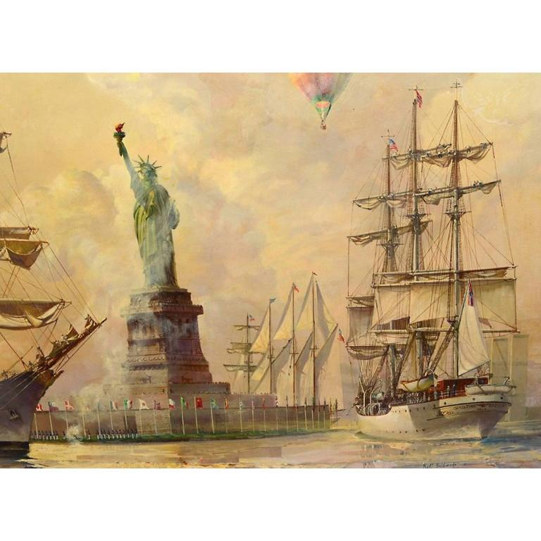 Kipp Soldwedel Operation Statue of Liberty Oil Painting For Sale 3