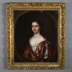 Late 17th Century Oil on Canvas Portrait of a Lady by Charles Beale (1660-1714)