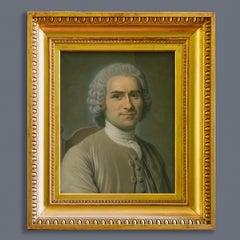 19th Century A Portrait of Rousseau After Maurice-Quentin de La Tour