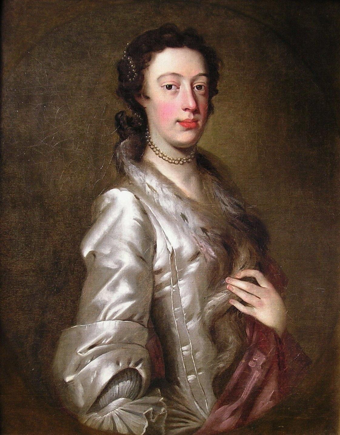18th century oil portrait of Margaret Peg Woffington by Jeremiah Davison