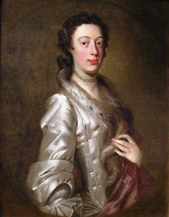 18th century oil portrait of Margaret Peg Woffington by Jeremiah Davison