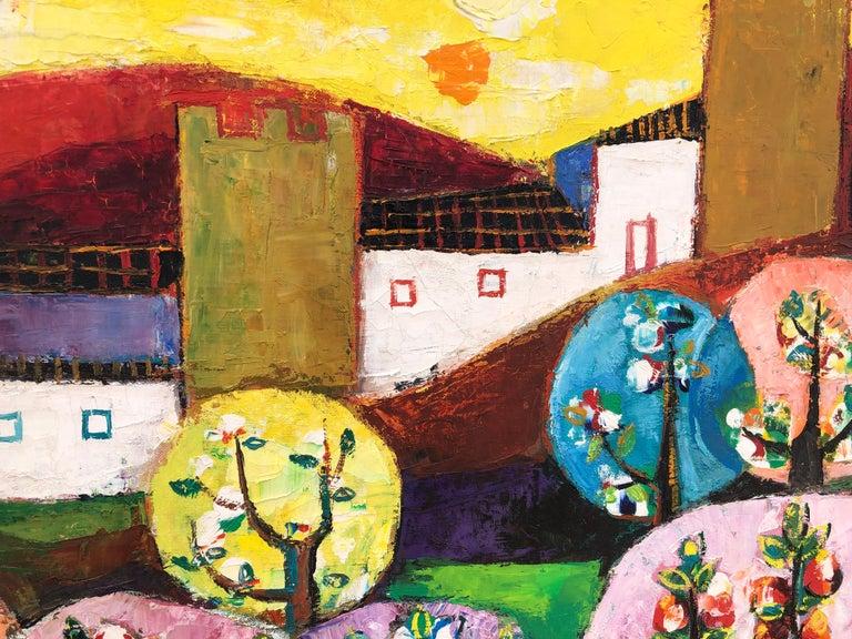 Palau Ferre, Landscape Montblanch Spain - original oil painting For Sale 3