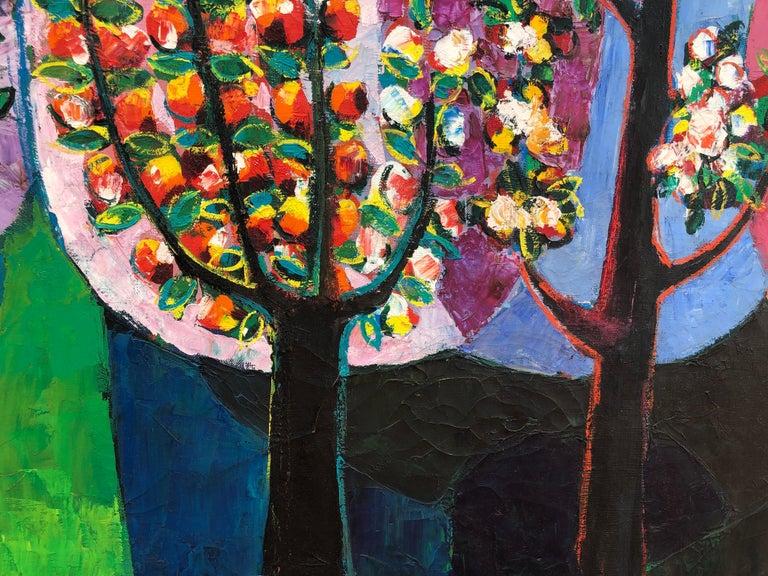 Palau Ferre, Landscape Montblanch Spain - original oil painting For Sale 1