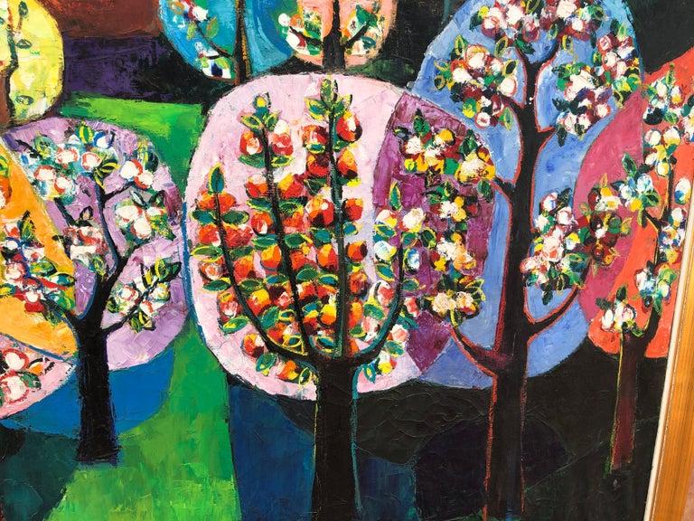 Palau Ferre, Landscape Montblanch Spain - original oil painting For Sale 2