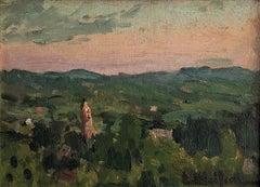 Eliseo Meifren view of Valldemosa Mallorca - original oil painting