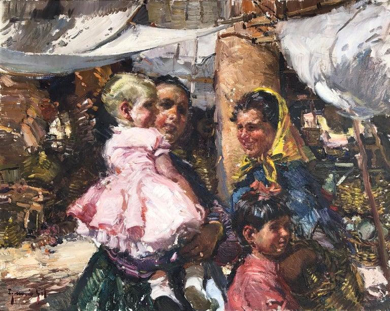 Ignacio Gil Sala Landscape Painting - Spanish people from Ibiza, Balearian Islands oil on canvas painting