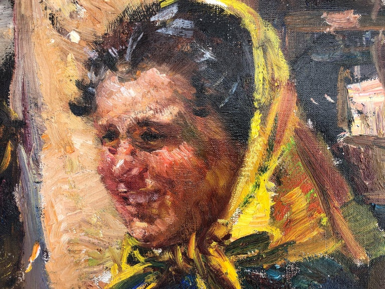 Unframed.  Ignacio Gil Sala, was a painter, bohemian character, adventurous and intrepid traveler who knew how to capture his eyes to that world with his painting. After starting his artistic training at the age of nine, Gil Sala entered the School