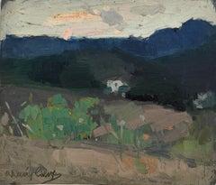 Rafael Durancamps spanish landscape original oil painting c.1920