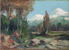 Josep Ventosa original spanish landscape oil on board c.1940
