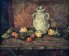 Joan Abello still life original oil canvas painting
