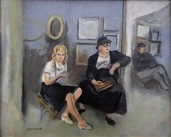 Ricard Opisso catalan modernist scene original oil painting c.1950