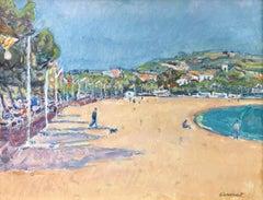 Josep Amat spanish beach seascape oil canvas painting