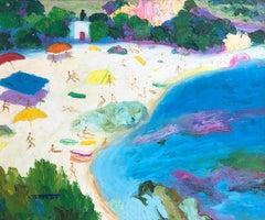 Tamariu Costa Brava oil on canvas painting seascape