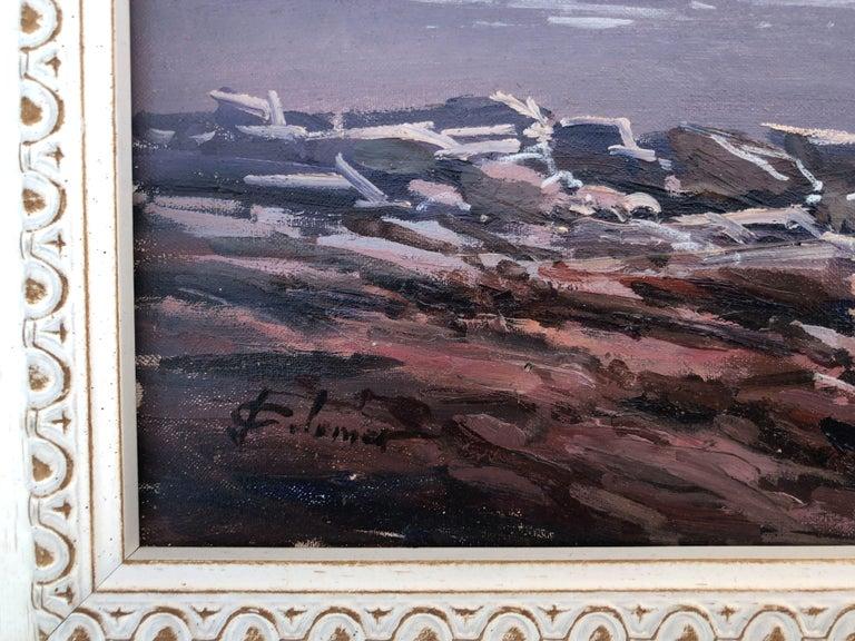 Spanish landscape original oil on canvas painting c.1990 - Barbizon School Painting by Josep Colomer
