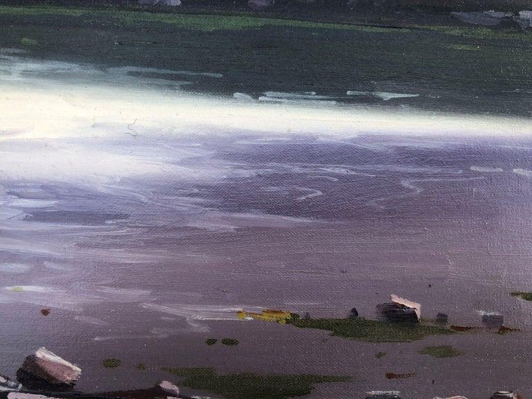 Spanish landscape original oil on canvas painting c.1990 For Sale 2