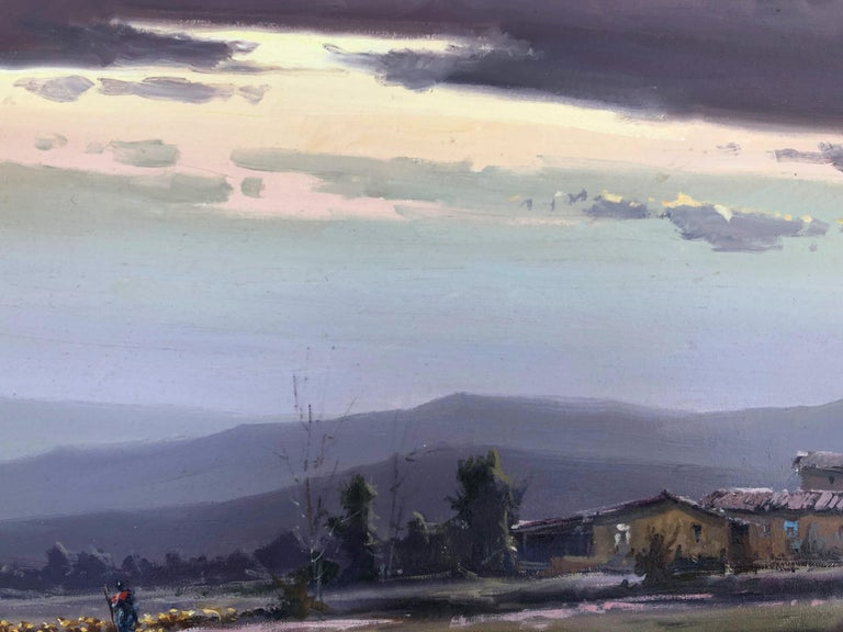 Spanish landscape original oil on canvas painting c.1990 For Sale 3