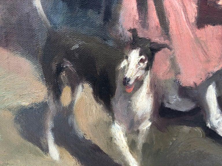 Goyesque scene original oil on canvas painting c.1972 For Sale 5