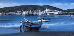 Seascape view of Cadaques Spain oil on canvas