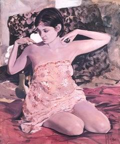 Female figure original oil on canvas nude painting