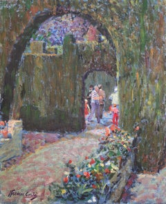Labyrinth of Horta in Barcelona Spain oil on canvas painting
