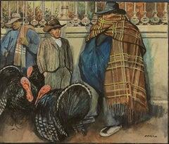 Turkey sellers spanish modernism watercolor